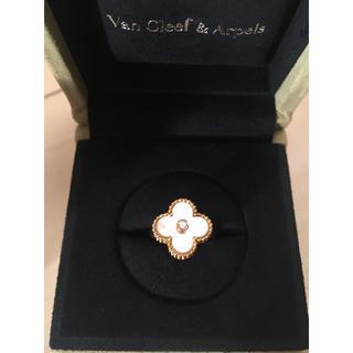 ヴァンクリーフアンドアーペル(Van Cleef & Arpels)のアンティー様専用ヴァンクリ  アルハンブラ マザーオブパール ダイヤモンド(リング(指輪))