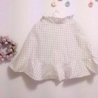 リズリサ(LIZ LISA)のカタログ表紙掲載♡チェックフレアスカート(ひざ丈スカート)
