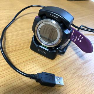 エプソン(EPSON)のEPSON Wristable GPS SF810/V *再訂正 コピー取説付き(腕時計(デジタル))
