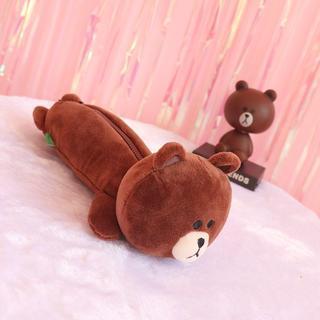 ティーラインロサーゼン(T-LINE ROSASEN)の新品ブラウン熊メイクポーチ(ぬいぐるみ)