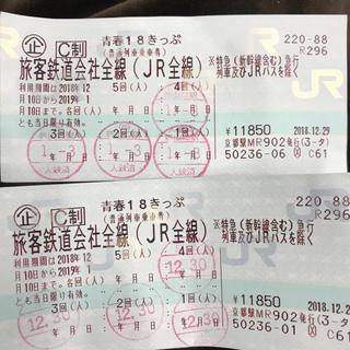 ジェイアール(JR)の青春18きっぷ      10日まで(鉄道乗車券)