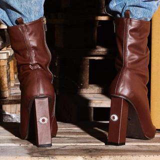 イエローブーツ(Yellow boots)のYELLO SHOES SEPIA SHORT BOOTS(ブーツ)