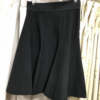 イランイラン(YLANG YLANG)のスカート 黒 イランイラン S(ひざ丈スカート)