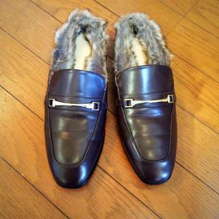 ジーユー(GU)のGU ピット付きファーローファー(ローファー/革靴)