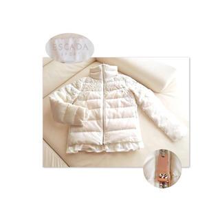 ESCADA 豪華エンブロイダリー刺繍×裾レース ダウンジャケット