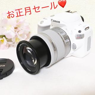 キヤノン(Canon)の大人気❤️Canon Kiss x9 新品 ホワイト レンズキット 18-55(デジタル一眼)