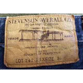 スティーブンソンオーバーオール(STEVENSON OVERALL)の【値下げ❗️】STEVENSON OVERALL Lot747RXX W33(デニム/ジーンズ)