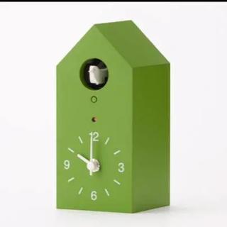 MUJI (無印良品) - 無印良品 鳩時計 小 グリーン