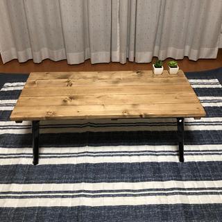 アンティーク風折りたたみ式ローテーブル(ローテーブル)
