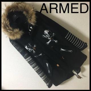 アームド(ARMED)の◆レア◆ARMED アームド◆クレイジー モッズコート ニット スカル 2 M(モッズコート)