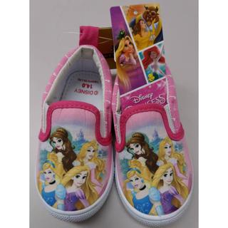 ディズニー(Disney)の【新品・タグ付き】プリンセス スリッポン 【14cm】(スリッポン)
