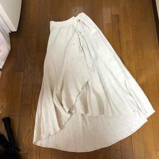 ローズバッド(ROSE BUD)のrosebud♡麻素材アシメロングスカート(ロングスカート)