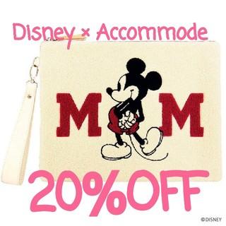 ディズニー(Disney)の新春sale♡ディズニー×アコモデ♡クラッチバッグ(クラッチバッグ)