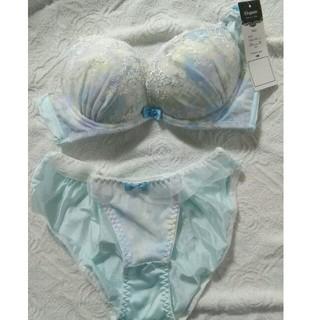 ニッセン(ニッセン)の《値下げ♪》 ニッセン Elegante ブラ&ショーツ C75 可愛い水色(ブラ&ショーツセット)
