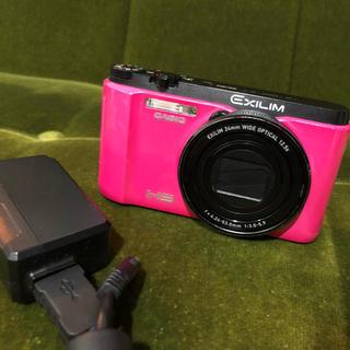 カシオ(CASIO)の自撮りできる♡ピンク♡デジカメ CASIO EX-ZR1300(コンパクトデジタルカメラ)