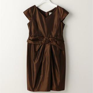 ノーリーズ(NOLLEY'S)の新品 定価41040円 ノーリーズ 光沢が美しいドレス 茶系 38、40(その他)
