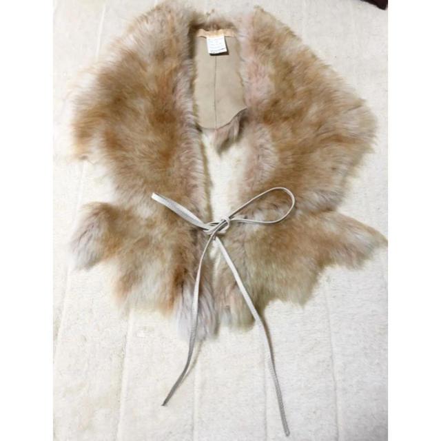 DENDROBIUM(デンドロビウム)のデンドロビウム ムートンリアルファーショール マフラー レディースのファッション小物(マフラー/ショール)の商品写真