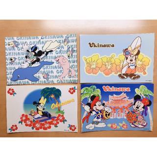 ディズニー(Disney)の沖縄限定 ディズニーポストカード4枚セット(カード)
