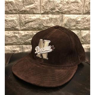 ナイトロウ(ナイトレイド)(nitrow(nitraid))の美品 Nitrow ナイトロゥ 豚革 ニューエラ NEWERA CAP 帽子(キャップ)