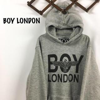 ボーイロンドン(Boy London)の新年特価! BOY LONDON ロゴ プルオーバー パーカー グレー(パーカー)