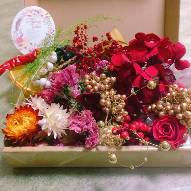 ドライフラワー♡ハーバリウム♡お花の宝箱♡ ハンドメイドのフラワー/ガーデン(ドライフラワー)の商品写真