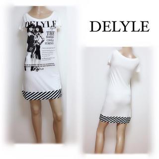 デイライル(Delyle)のDELYLE ▶︎モノトーン Tシャツ ワンピース♡リエンダ ダチュラ ムルーア(ミニワンピース)