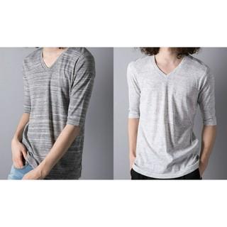 ガルヴァナイズ(Galvanize)のgalvanize 杢Vネック5分 Tシャツ 2枚まとめ売り ホワイト グレー(Tシャツ/カットソー(半袖/袖なし))