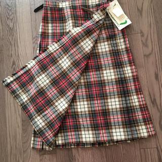 タータンショップヨーク(TARTANSHOP YORK)のヨークランド タグ付き巻きスカート(ひざ丈スカート)