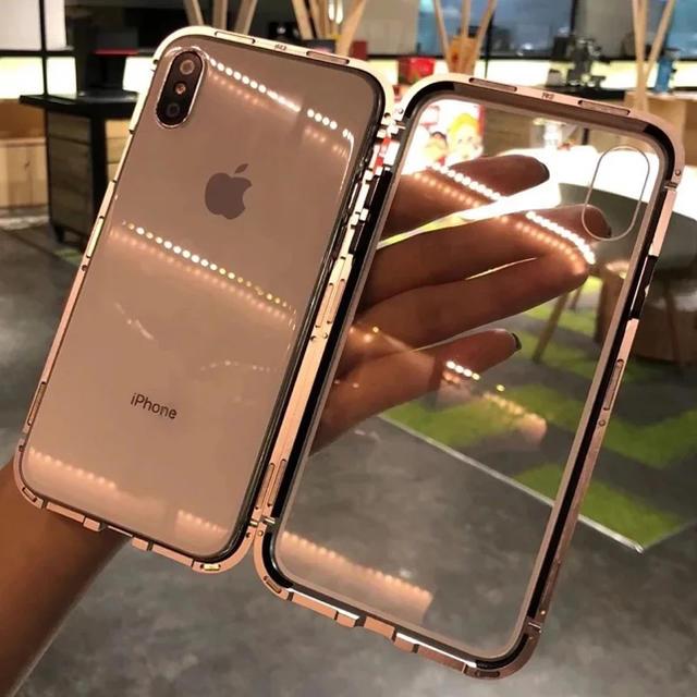 360度全面保護両面マグネット吸着 iPhoneXsMax ケースの通販 by FF's ...