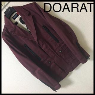 ドゥアラット(DOARAT)の◆レア◆DOARAT ドゥアラット◆テーラード  ジャケット ステンシル ワイン(テーラードジャケット)