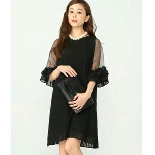 カロリナグレイサー(CAROLINA GLASER)の【mmm様専用】カロリナグレイサー ワンピース ドレス 黒 (ミディアムドレス)