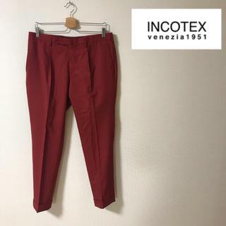インコテックス(INCOTEX)の【極美品】INCOTEX SLOWEAR スラックス レッド50 SKINFIT(スラックス)