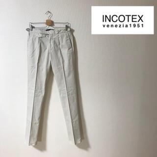 インコテックス(INCOTEX)の【新品未使用】INCOTEX コットンパンツ スラックス 46 SLIMFIT(スラックス)