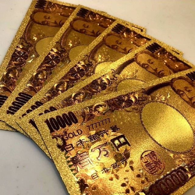 最高品質限定特価!純金24k1万円札2枚セット☆ブランド財布やバッグに☆の通販 by 金運's shop|ラクマ
