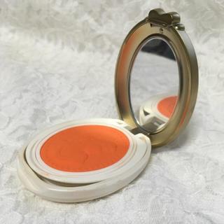 レメルヴェイユーズラデュレ(Les Merveilleuses LADUREE)の美品! プレストチーク オレンジ(チーク)