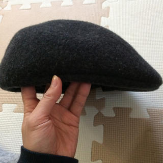 ザラ(ZARA)のザラ ZARA ベレー帽 ハンチング  秋冬 グレー(ハンチング/ベレー帽)