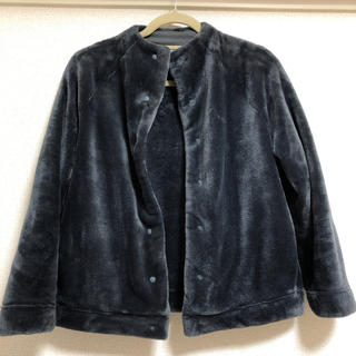 MUJI (無印良品) - あたたかファイバー着る毛布 ノーカラージャケット