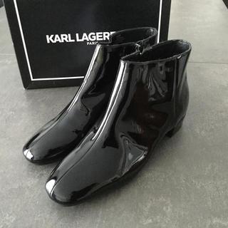 カールラガーフェルド(Karl Lagerfeld)の新品正規品日本未入荷早い者勝ち‼️定価約5万円 カールラガーフェルド (ブーツ)