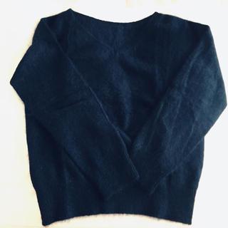 シェトワ(Chez toi)のアンゴラ セーター ネイビー(ニット/セーター)