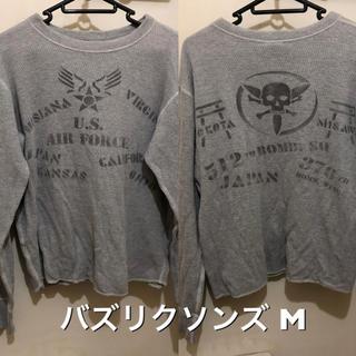 バズリクソンズ(Buzz Rickson's)の着丈短めM!日本製バズリクソンズ 古着長袖サーマルTシャツ厚手アメカジミリタリー(Tシャツ/カットソー(七分/長袖))