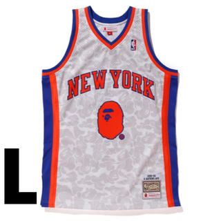 A BATHING APE - L BAPE MITCHELL&NESS KNICKS BASKETBALL