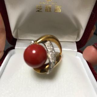 チャチャ様専用  血赤 珊瑚リング(リング(指輪))