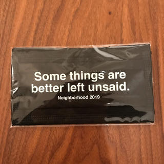 NEIGHBORHOOD - Neighborhood 2019 ノベルティ ブラックマスク