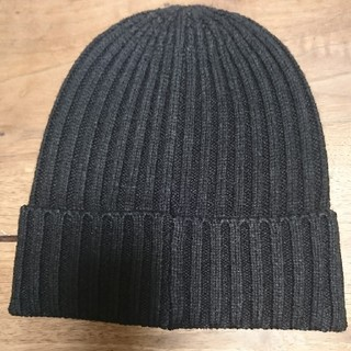 コムサイズム(COMME CA ISM)のコムサ 黒 ニット帽(ニット帽/ビーニー)