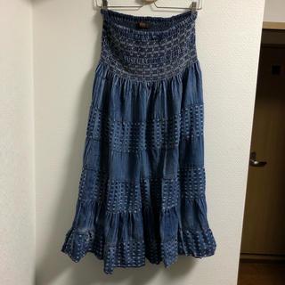 キスキス(XOXO)のXOXO デニムロングスカート ブルー [M](ロングスカート)