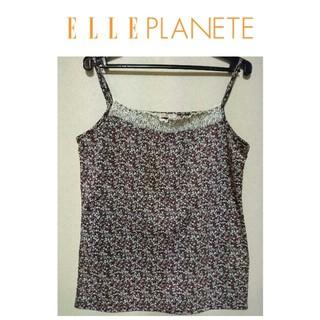 エルプラネット(ELLE PLANETE)の美品/ELLEPLANET/エルプラネット/キャミソール/レース/小花柄(キャミソール)