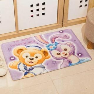 ディズニー(Disney)の【日本未発売】ダッフィー &ステラルー 玄関マット マット(フロアマット)