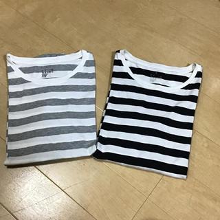 MUJI (無印良品) - 無印良品 ボーダー 長袖Tシャツ