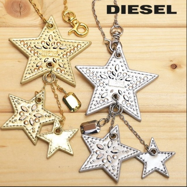 DIESEL(ディーゼル)のDIESEL☆本革バッグチャーム レディースのファッション小物(キーホルダー)の商品写真