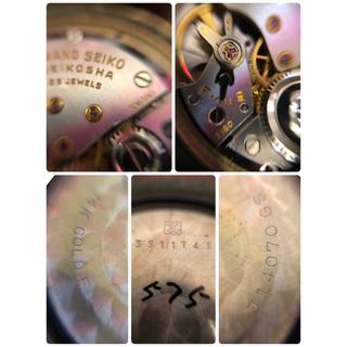 グランドセイコー(Grand Seiko)のグランドセイコー ファースト 手巻き ゴールド 稼働品(腕時計(アナログ))
